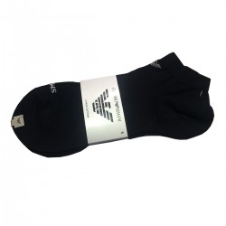 FOOTLET SOCKS STRETCHED COTTON MADE IN ITALY BLACK