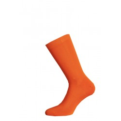 SHORT SOCKS 100% COTTON LISLE MADE IN ITALY - ORANGE
