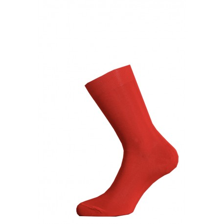 SHORT SOCKS 100% COTTON LISLE MADE IN ITALY - RED