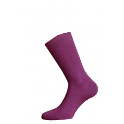 SHORT SOCKS 100% COTTON LISLE MADE IN ITALY - VIOLET