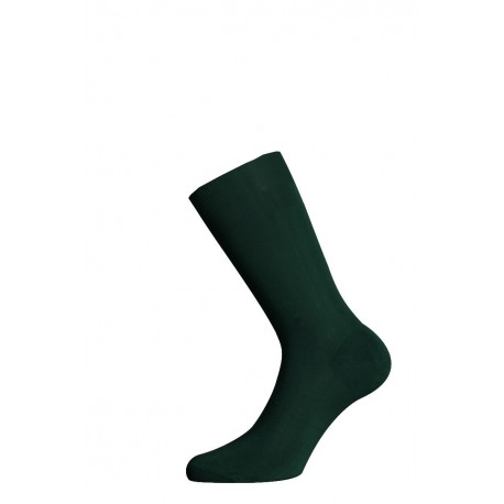 SHORT SOCKS 100% COTTON LISLE MADE IN ITALY - DARK GREEN