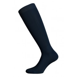 LONG SOCKS 100% COTTON LISLE MADE IN ITALY - DARK BLUE