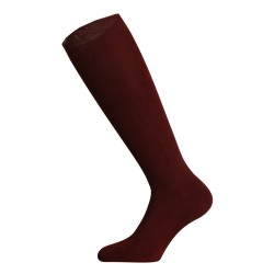 LONG SOCKS 100% COTTON LISLE MADE IN ITALY - BORDEAUX