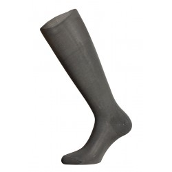 LONG SOCKS 100% COTTON LISLE MADE IN ITALY - MEDIUM GRAY