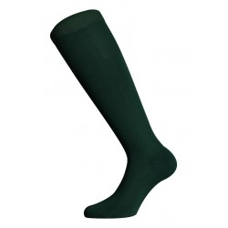 LONG SOCKS 100% COTTON LISLE MADE IN ITALY BOTTLE GREEN