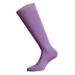 LONG SOCKS 100% COTTON LISLE MADE IN ITALY - LILAC