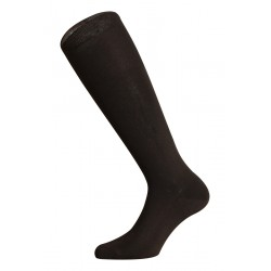 LONG SOCKS 100% COTTON LISLE MADE IN ITALY - DARK BROWN