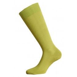 LONG SOCKS 100% COTTON LISLE MADE IN ITALY GREEN PISTACHIO