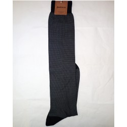 LONG SOCKS SQUARES BLACK-COTTON ZERO