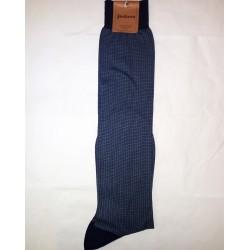 LONG SOCKS SQUARES BLUE-COTTON ZERO