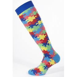 LONG SOCKS DENIM PUZZLE