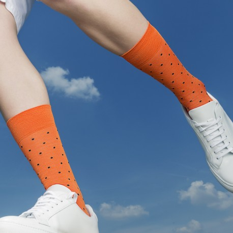 SHORT SOCKS ORANGE POIS