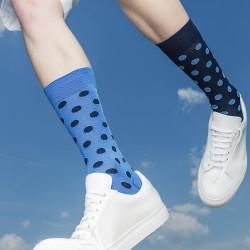 SHORT SOCKS MISMATCHED BLUE POIS