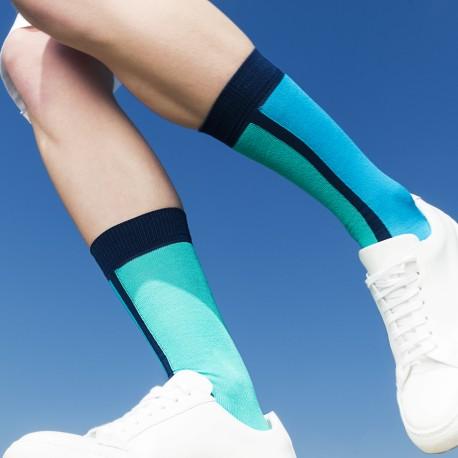 SHORT SOCKS BICOLOR BLUE