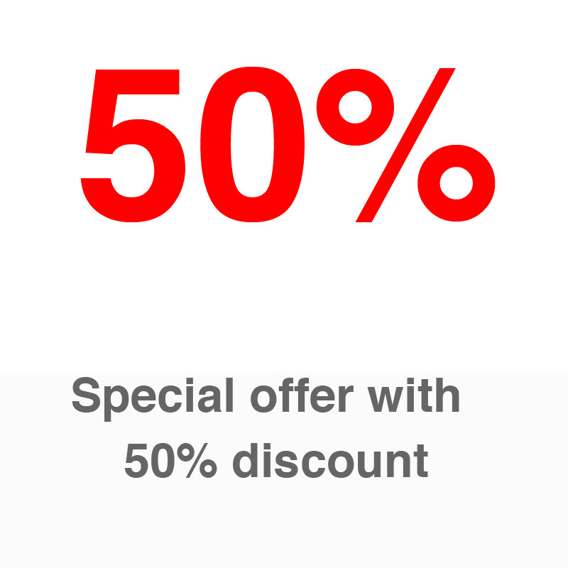 Special Offer with 50% DISCOUNT