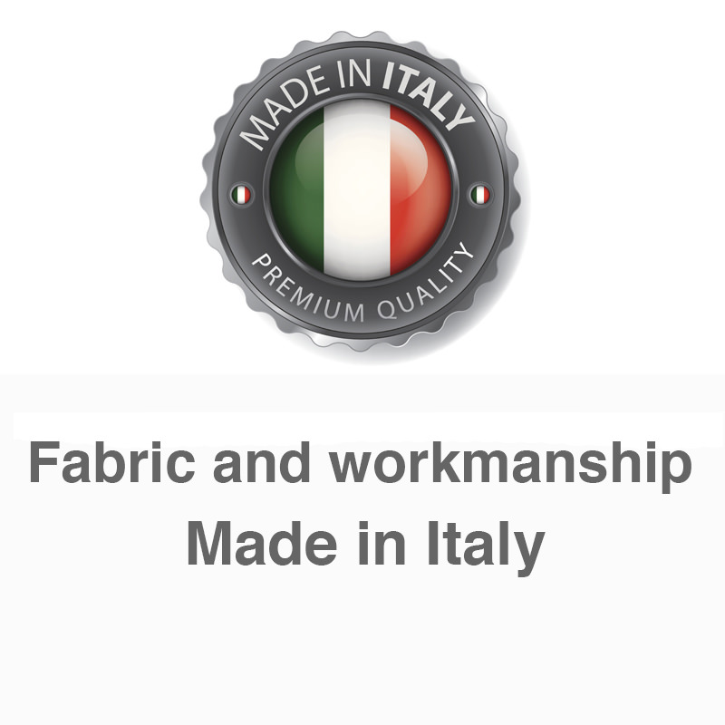 Fabric and workmanship Made in Italy
