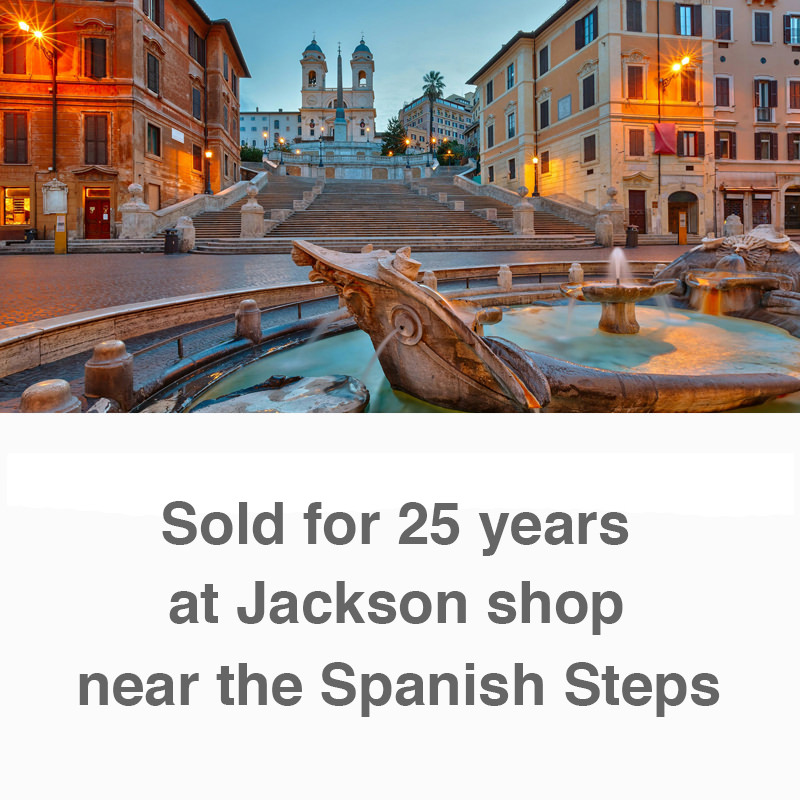 Sold for 25 years at Jackson shop near the Spanish Steps